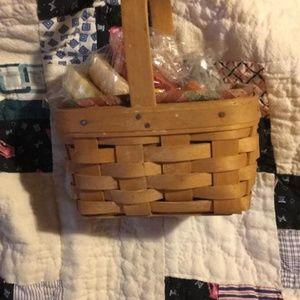 Longaberger basket and tarts